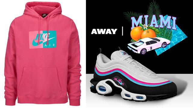 """4a07444e9a Nike Air Max 97 Plus """"Miami Away"""" x Nike Air South Beach Pullover Hoodie"""