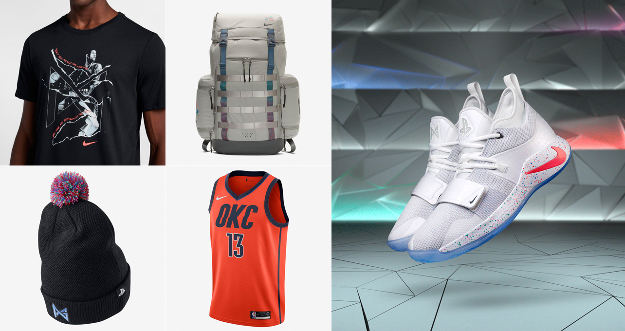 buy popular 3cbb6 ba77b Nike PG 25 Playstation White Clothing Gear | SneakerFits.com