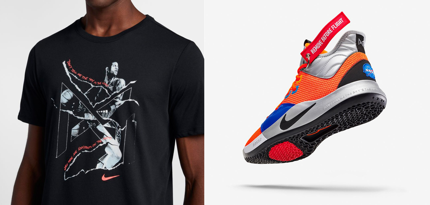 "Nike PG 3 ""NASA"" x Nike Paul George ""Footprints on the Moon"" Dri-FIT T-Shirt 387323a7e767"
