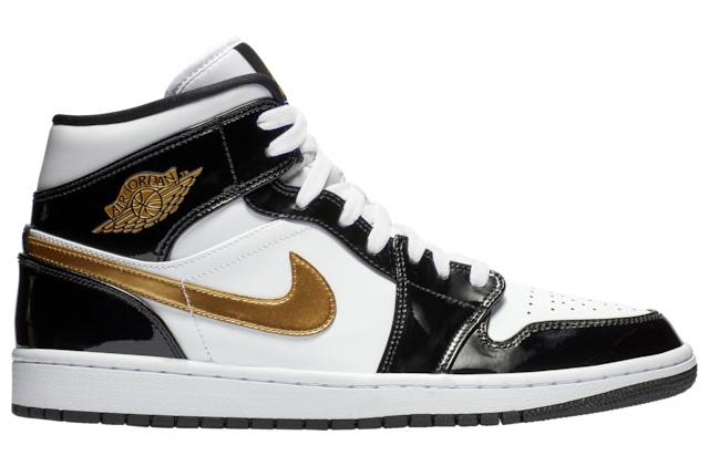 air-jordan-1-mid-black-gold