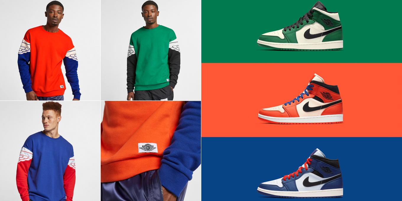 8e6e49fbf4bce5 air-jordan-1-mid-formidable-foes-sweatshirts. Joining the Jordan Wings  Classics Jackets are these matching crew sweatshirts from Jordan Brand ...