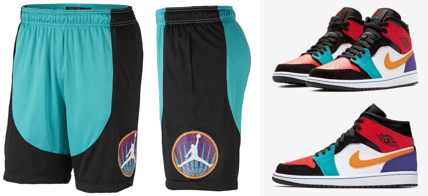 air-jordan-1-mid-multi-color-shorts