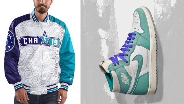 "04ee637f579 NBA Starter 2019 All Star Game Varsity Satin Full-Zip Jacket to Match the  Air Jordan 1 ""Turbo Green"""