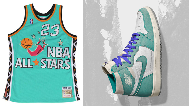 best sneakers 1ef0b 7fce6 Air Jordan 1 Turbo Green x Michael Jordan All Star Jersey ...