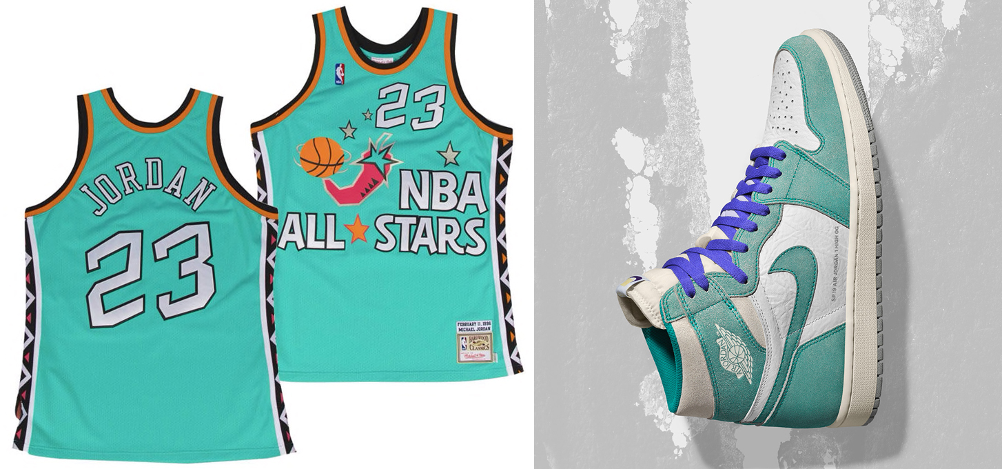 best sneakers d7bc2 48d72 Air Jordan 1 Turbo Green x Michael Jordan All Star Jersey ...