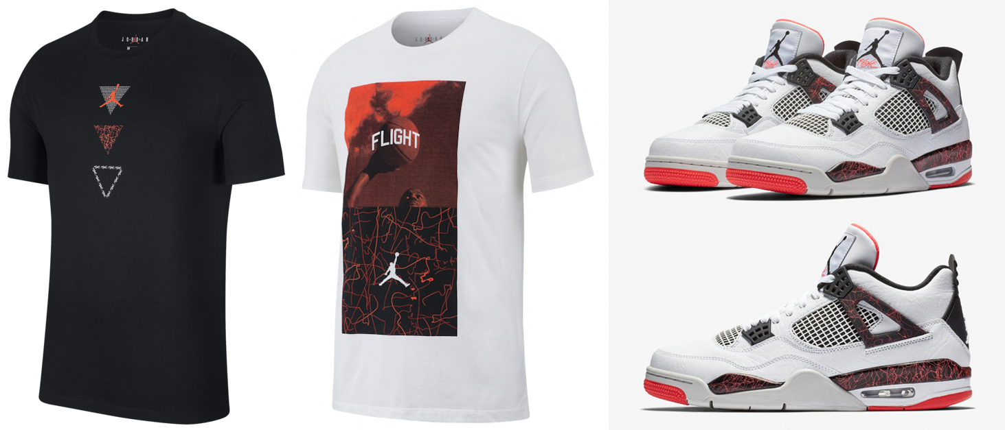 "6670e7019d60 Air Jordan 4 ""Hot Lava"" x Jordan Retro 4 Flight Nostalgia T-Shirts"