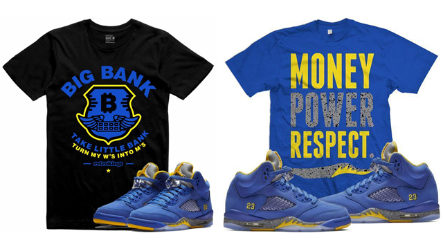 """the latest 2af78 a9018 Sneaker Tees to Match the Air Jordan 5 """"Laney"""""""
