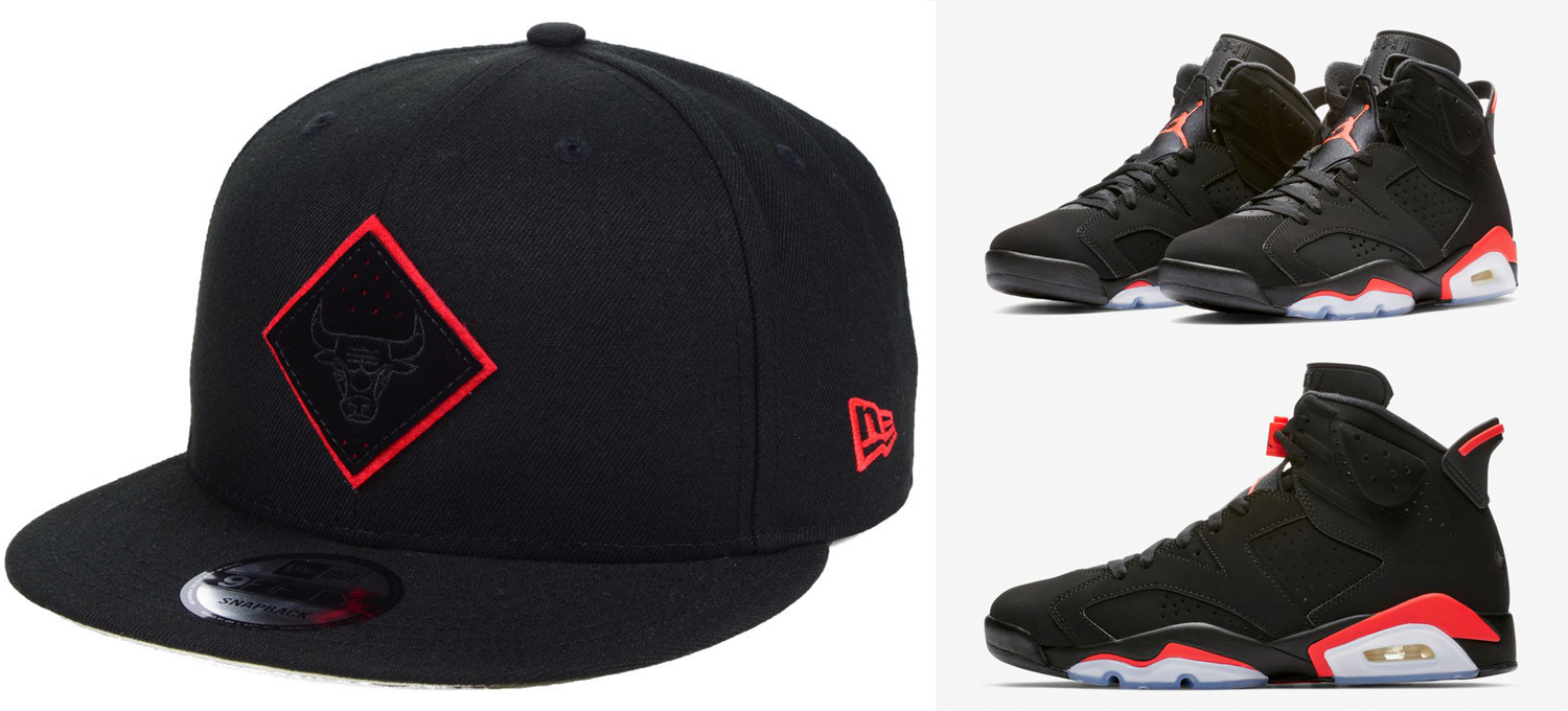 "991e36ad918 Air Jordan 6 ""Black Infrared"" x Chicago Bulls New Era NBA So Infrared Hook  9FIFTY Snapback Cap"