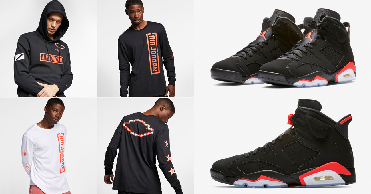purchase cheap 52217 f4e14 Jordan 6 Infrared All Star 2019 Clothing | SneakerFits.com