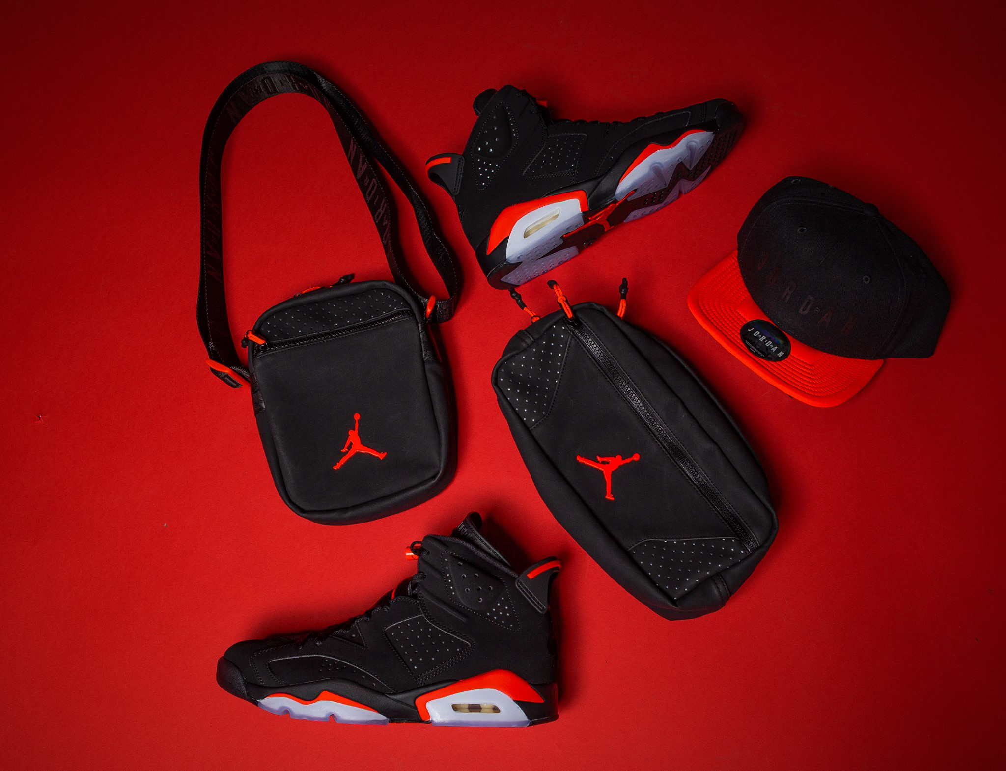 156631653bd Air Jordan 6 Black Infrared Hats and Bags | SneakerFits.com