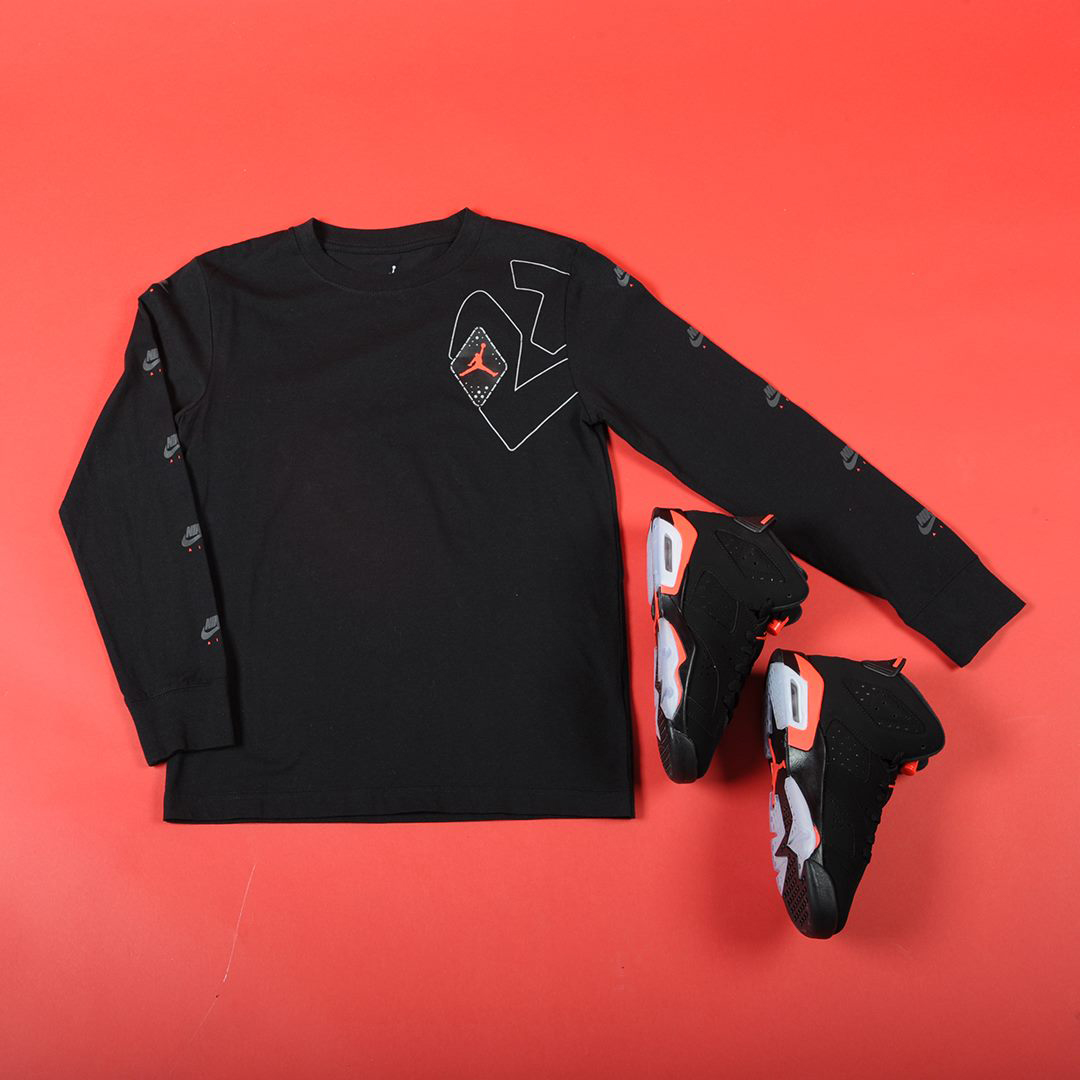 air-jordan-6-black-infrared-kids-grade-school-tee-shirt