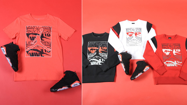 air-jordan-6-black-infrared-kids-sneaker-shirt