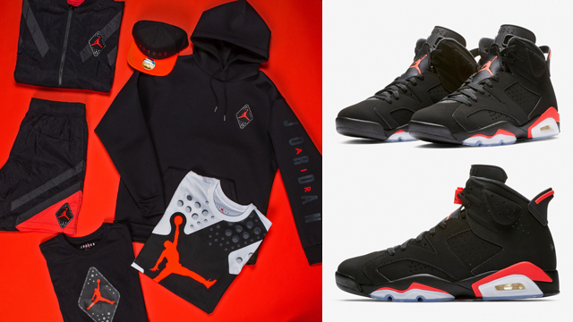 "2ce21cb57b11 Air Jordan 6 ""Infrared"" Collection at Champs"