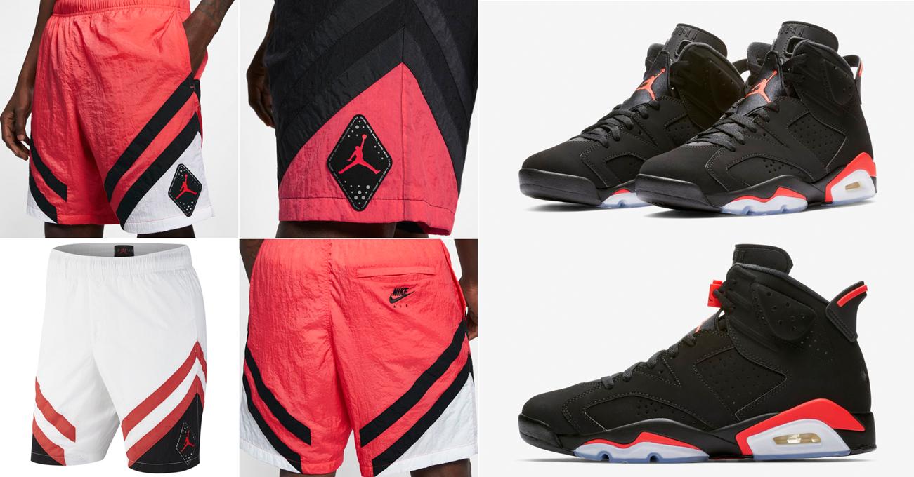 """fdb3a16eb61c Air Jordan 6 """"Infrared"""" Shorts"""