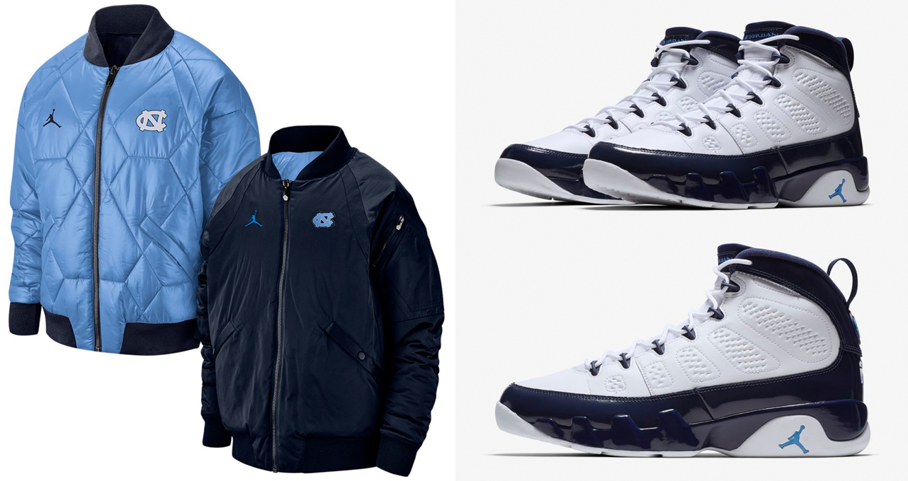 53f8c32aed2 Air Jordan 9 UNC Jackets to Match | SneakerFits.com