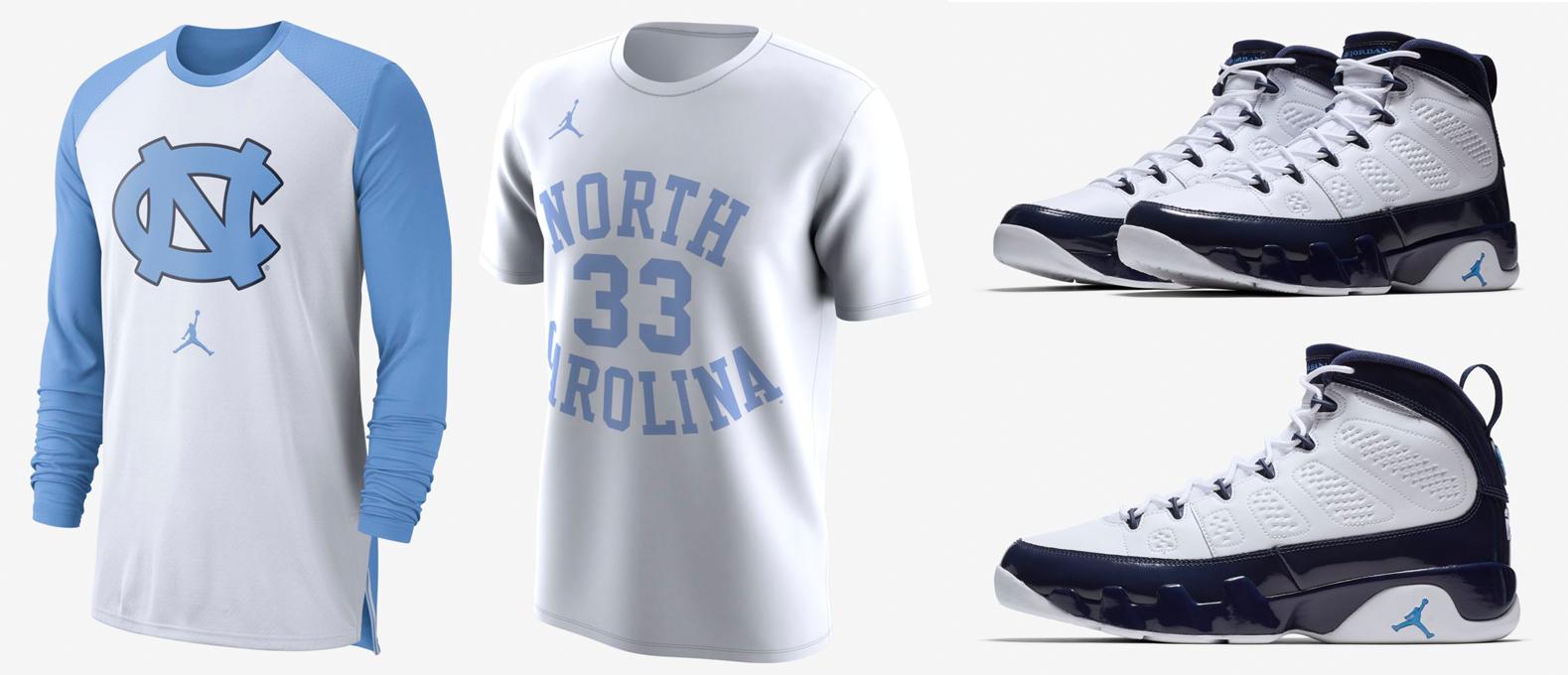 air-jordan-9-unc-shirts