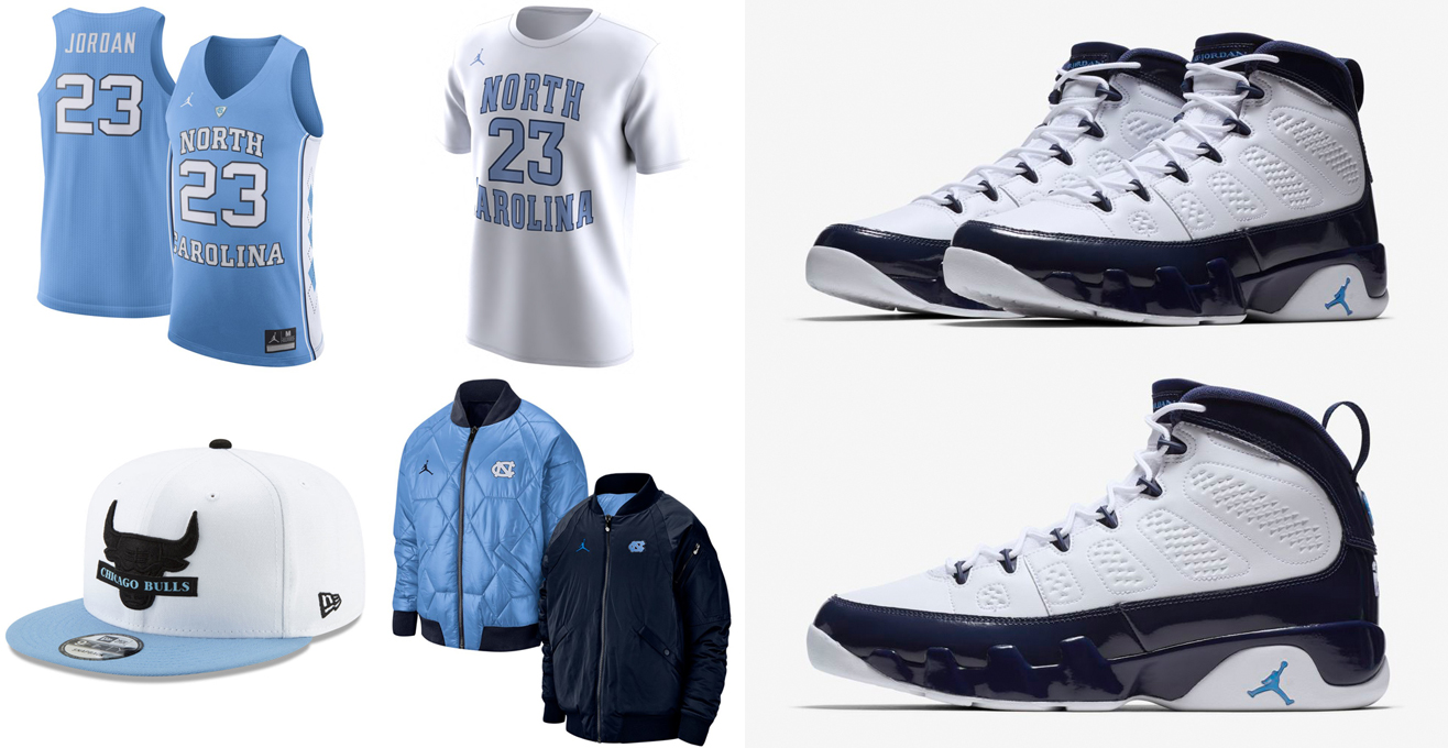 huge discount ad1d5 bd7da Air Jordan 9 UNC Sneaker Outfits | SneakerFits.com