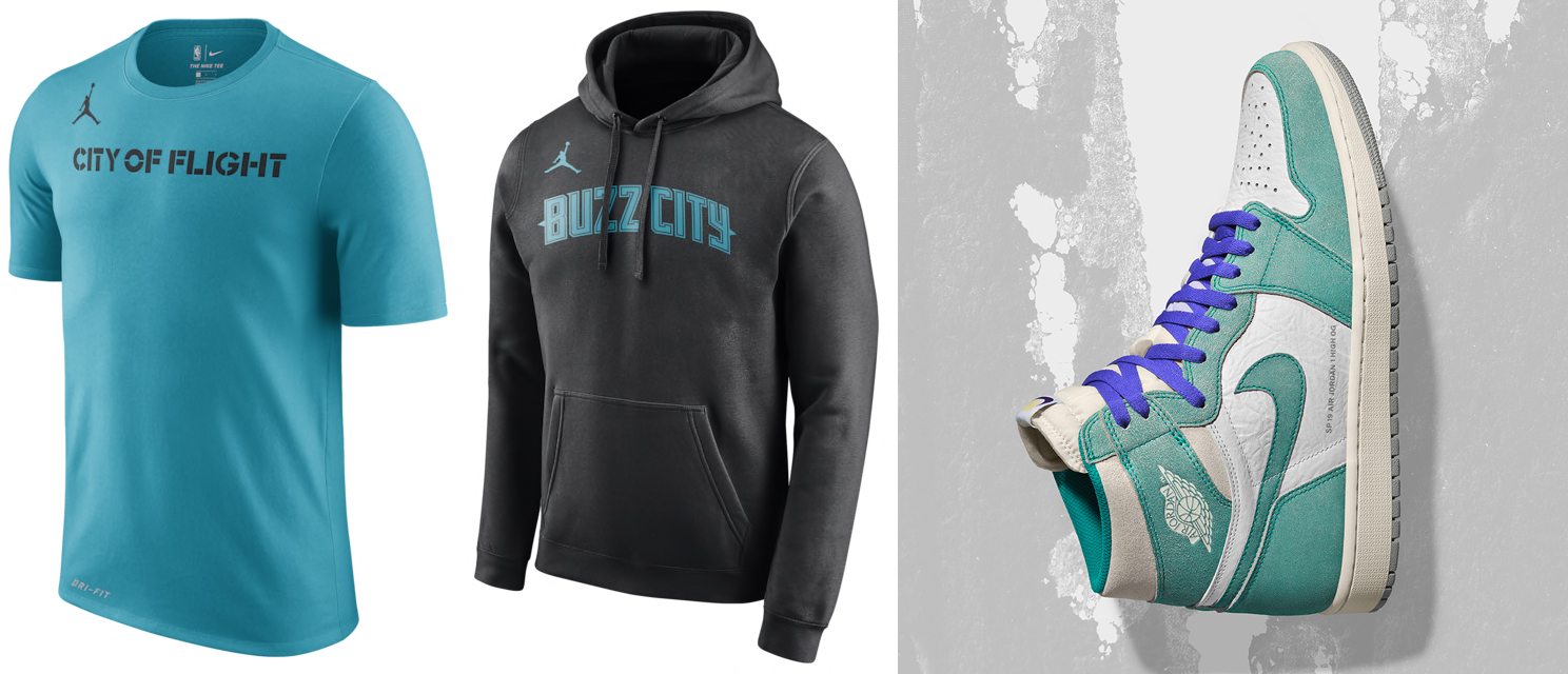 "610fa881082 Charlotte Hornets City Edition Clothing to Match the Air Jordan 1 ""Turbo  Green"""