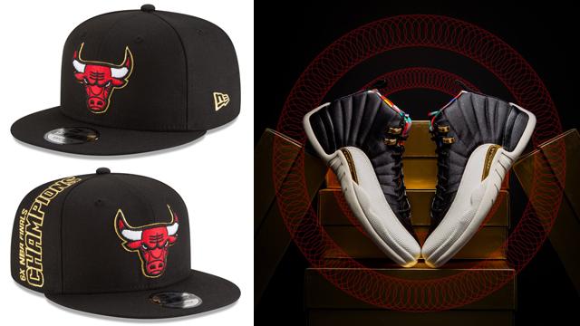 "61d7ac326c573d Air Jordan 12 ""Chinese New Year"" x Chicago Bulls New Era Tribute Flip  9FIFTY Snapback Hat"