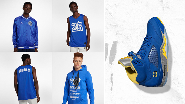 """7e29d9df896e44 If you re on the hunt for some clothing to hook with the Air Jordan 5 JSP """" Laney"""" sneakers"""