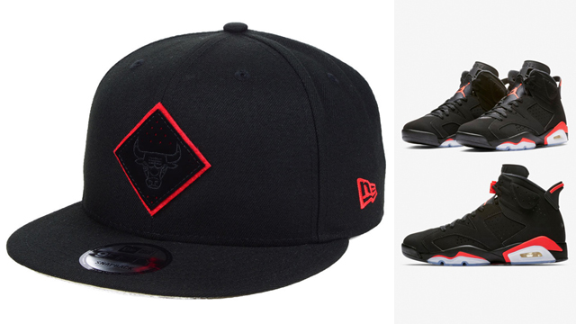 jordan-6-black-infrared-bulls-new-era-cap