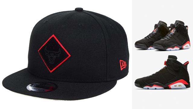 "19c7a6b6a6b1 Air Jordan 6 ""Black Infrared"" x Chicago Bulls New Era NBA So Infrared Hook  9FIFTY Snapback Cap"