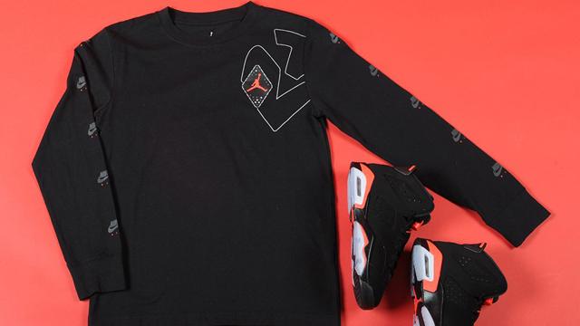 jordan-6-black-infrared-kids-shirt-shoe