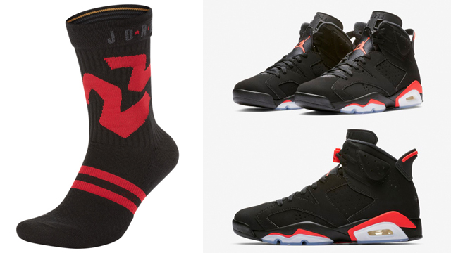 jordan-6-black-infrared-socks