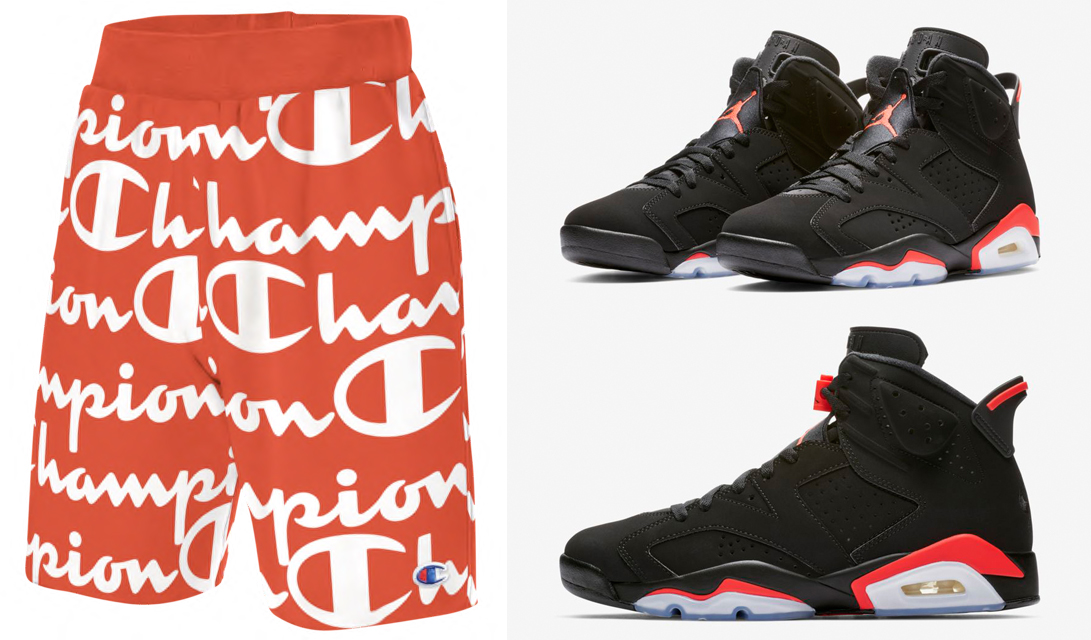 jordan-6-infrared-champion-shorts-match