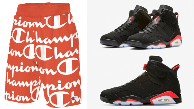jordan-6-infrared-champion-shorts