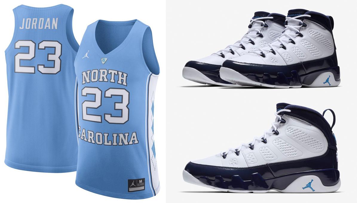 size 40 d6054 684ad Air Jordan 9 UNC Michael Jordan Jersey | SneakerFits.com
