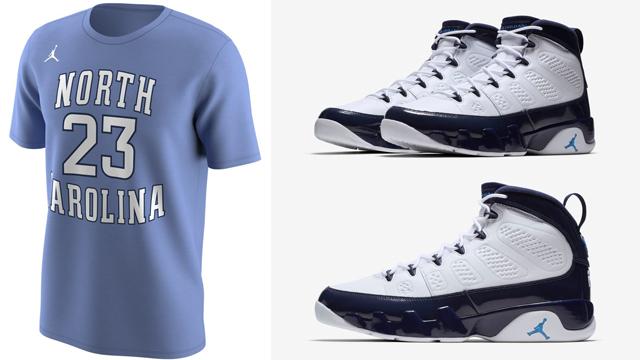 jordan-9-unc-tar-heels-michael-jordan-shirt