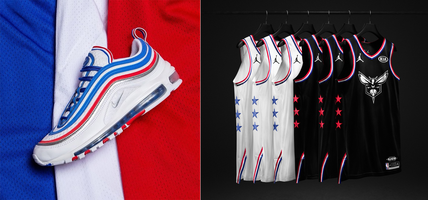 "Nike Air Max 97 ""All-Star Jersey"" to Match the 2019 NBA All-Star Game  Collection 4b68fdb40"