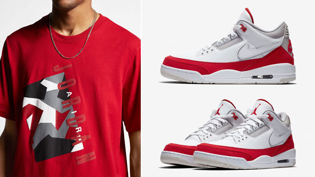 "bb70ed79d62a74 New Jordan Brand Shirts to Match the Air Jordan 3 Tinker ""Air Max 1"""