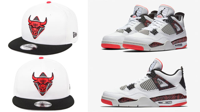 air-jordan-4-hot-lava-bulls-snapback-cap