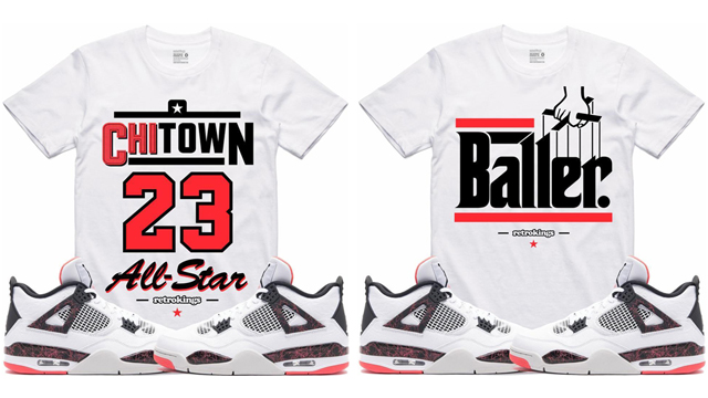 "cd1b4eb99b2 Retro Kings Sneaker Tees to Match the Air Jordan 4 ""Hot Lava"""