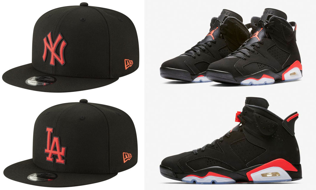 air-jordan-6-black-infrared-mlb-snapback-hats