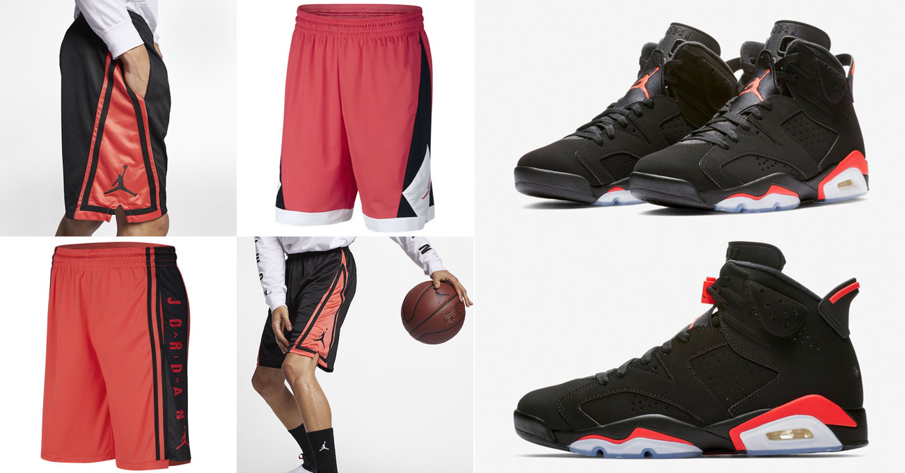 ad387facbbc8 air-jordan-6-black-infrared-shorts-to-match