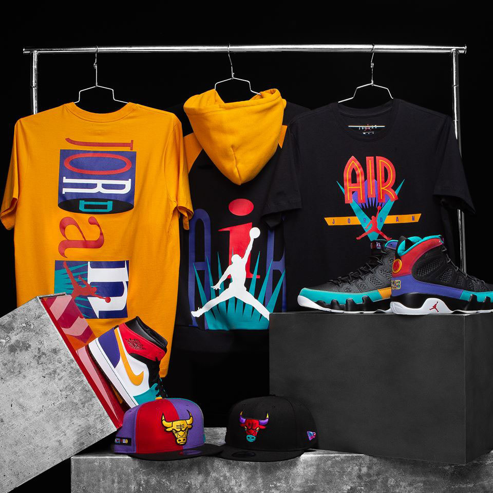 a84fc656a70 Jordan 9 Dream It Do It Nostalgia Clothing | SneakerFits.com