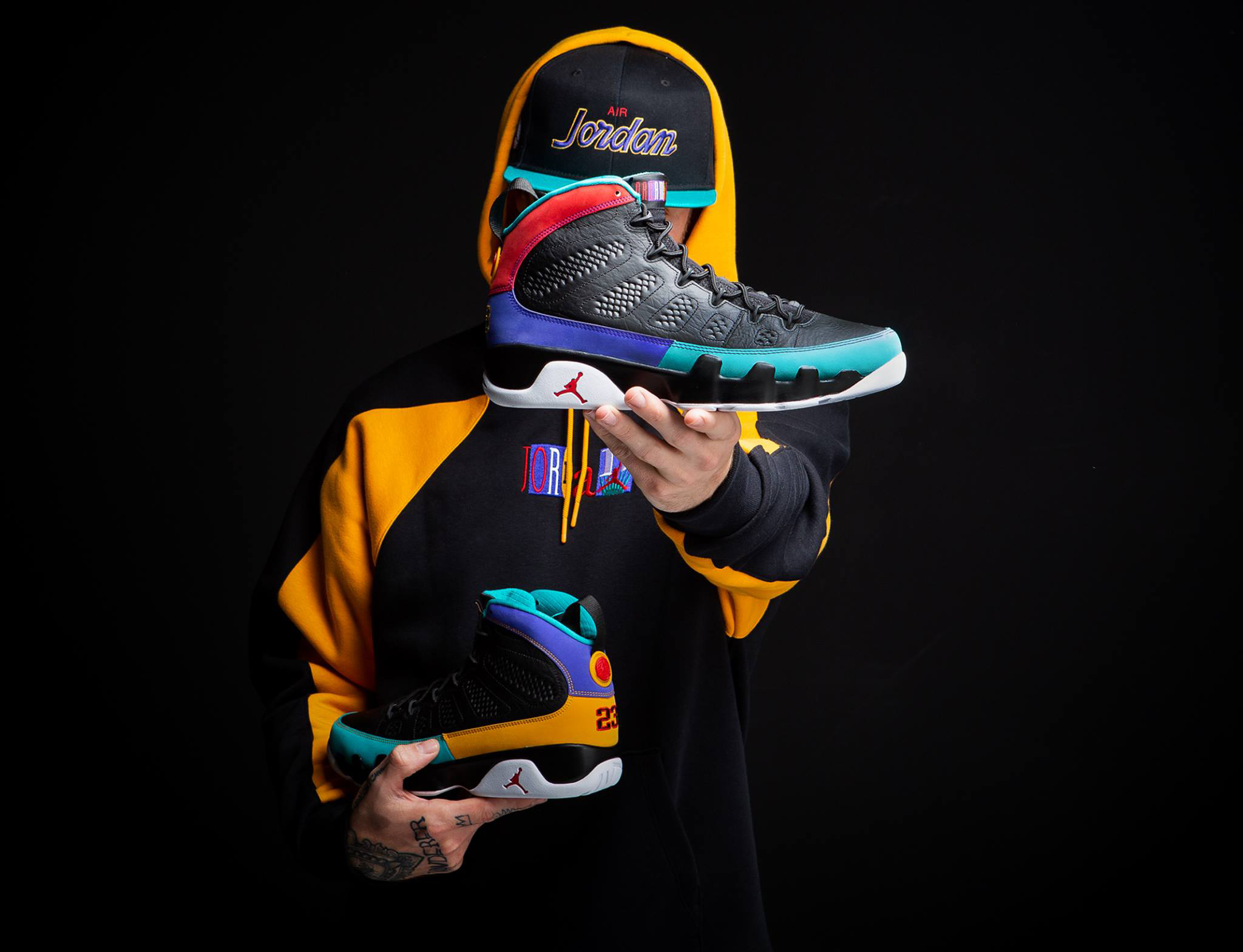 "e0bee21f326bca Air Jordan 9 ""Dream It Do It"" x Jordan Retro 9 Flight Nostalgia Hoodie and  Snapback Cap"