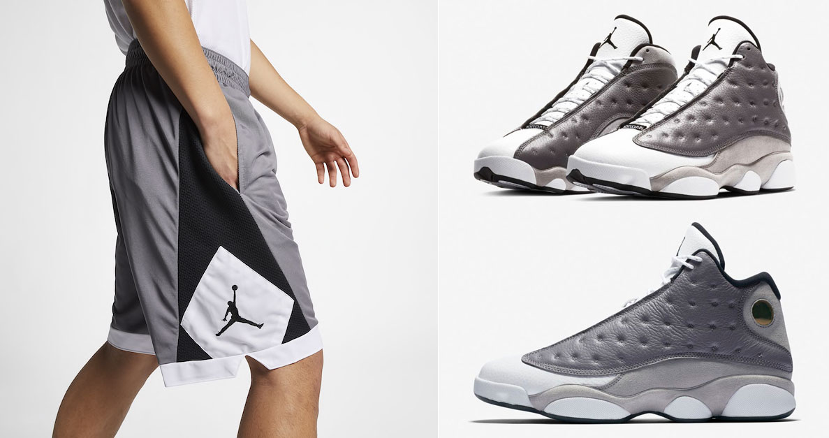 jordan-13-atmosphere-grey-matching-shorts