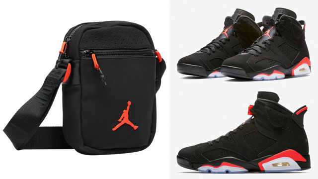 "timeless design 48af3 ea873 Lug your gear in colors that link up with the Air Jordan 6 ""Black Infrared""  sneakers with this Jordan Jumpman Air Festival Bag to match the kicks."