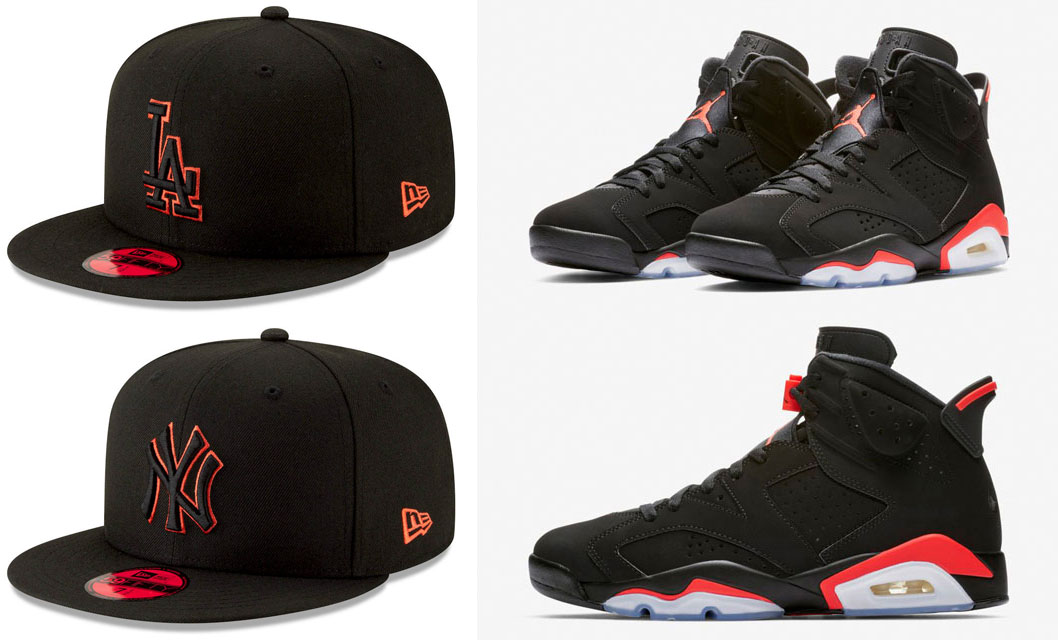 jordan-6-black-infrared-new-era-mlb-59fifty-hats