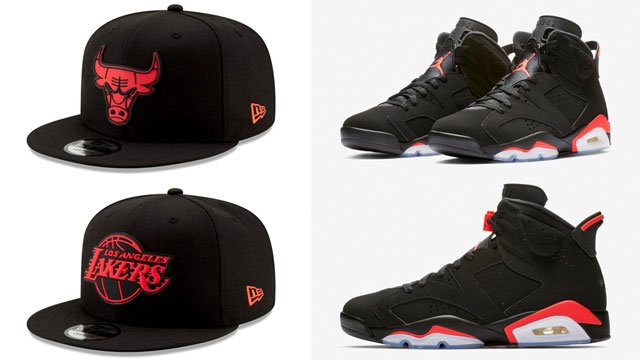 "37a04d9e05c9 New Era Infrared Logo Neon Pop 9FIFTY Snapback Hats to Match the Air Jordan  6 ""Black Infrared"""