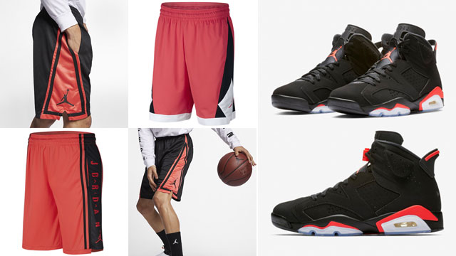 jordan-6-black-infrared-shorts-to-match