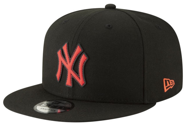 jordan-6-black-infrared-yankees-snapback-hat-1