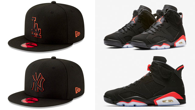 jordan-6-infrared-mlb-caps