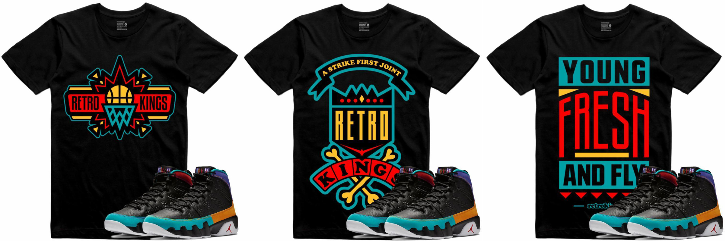 ac5648c4b1b4 Jordan 9 Dream It Do It Sneaker Tee Shirts