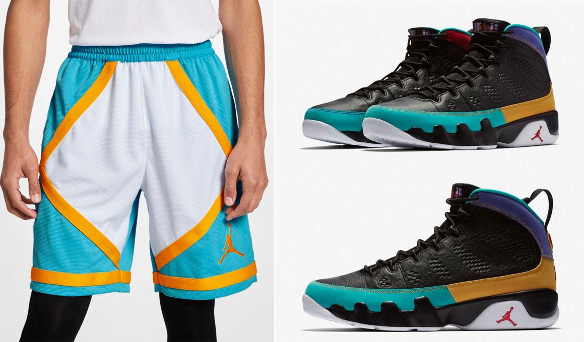 30083ce6c2bd50 Shorts to Match Jordan 9 Dream It Do It