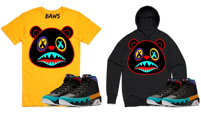 """b2041def833a6e BAWS Sneaker Tees and Sweatshirts to Match the Air Jordan 9 """"Dream It Do It"""""""